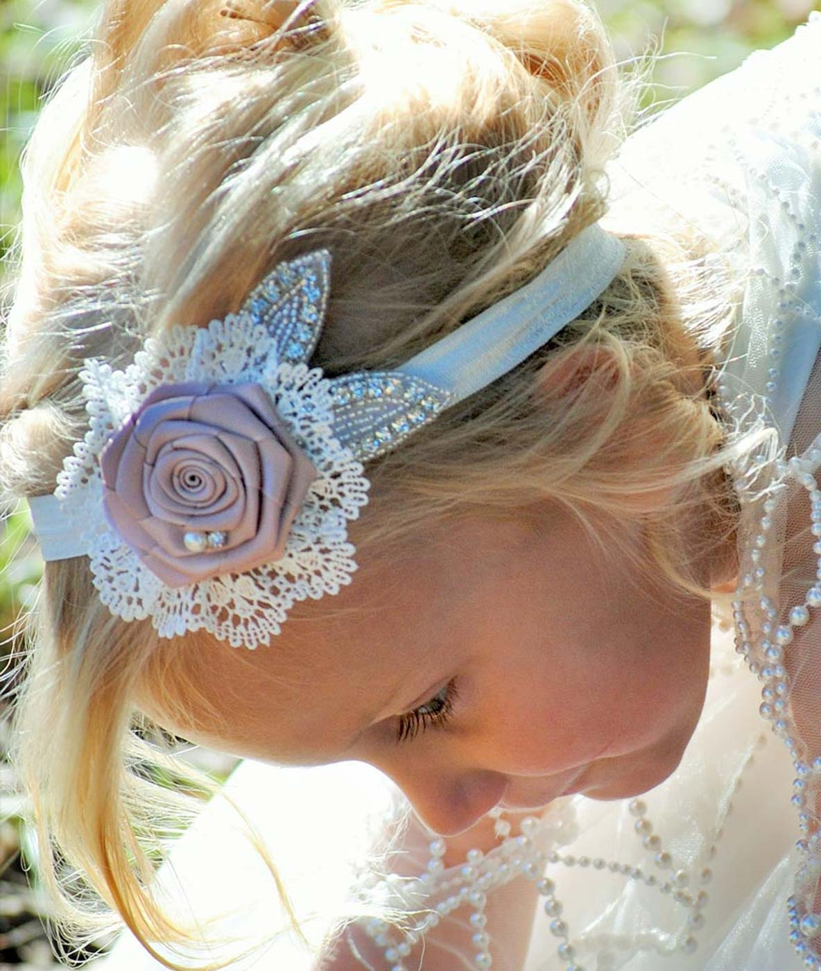 Girls Rose Headband