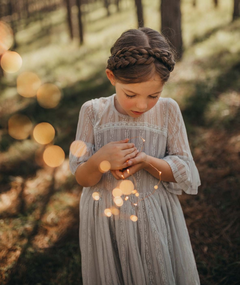 Hope Lace Flower Girl Dress