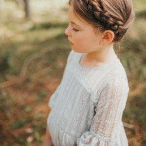 Girls Hope Vintage Lace Dress