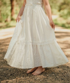 Girls lace flower girl dress