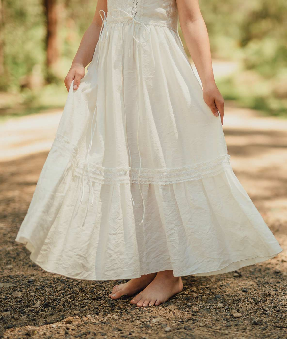 Vintage Lace Boho Flower Girl Dress