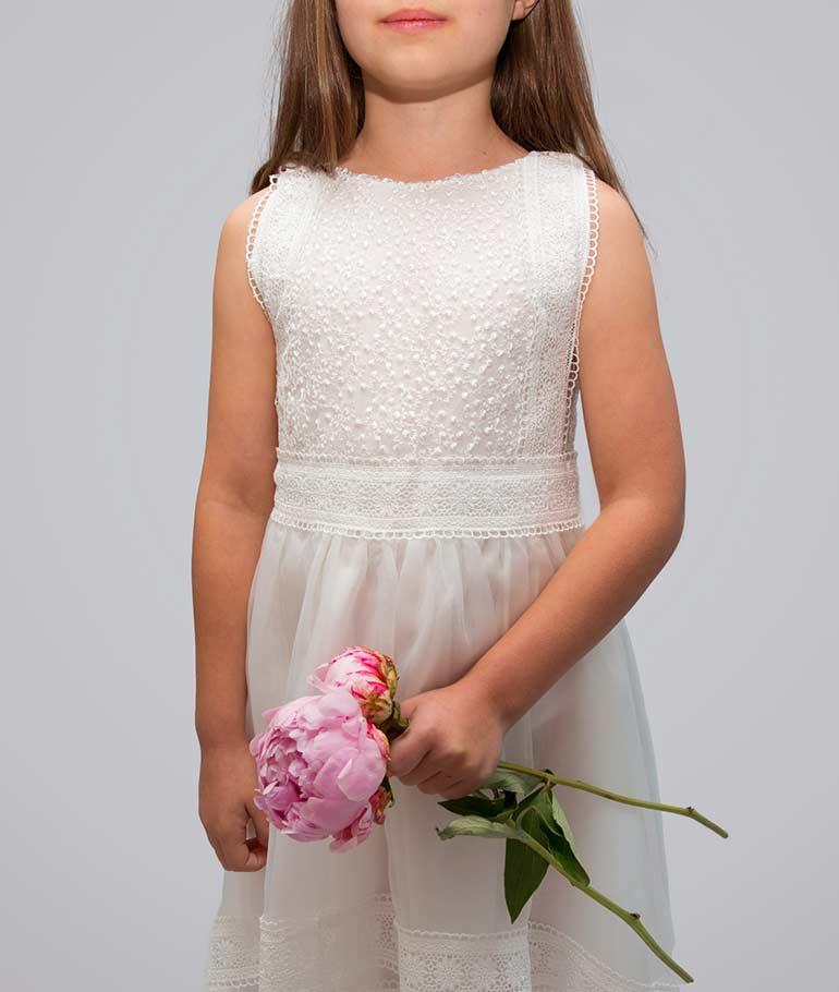 Grace Vintage Lace Flower Girl Dress