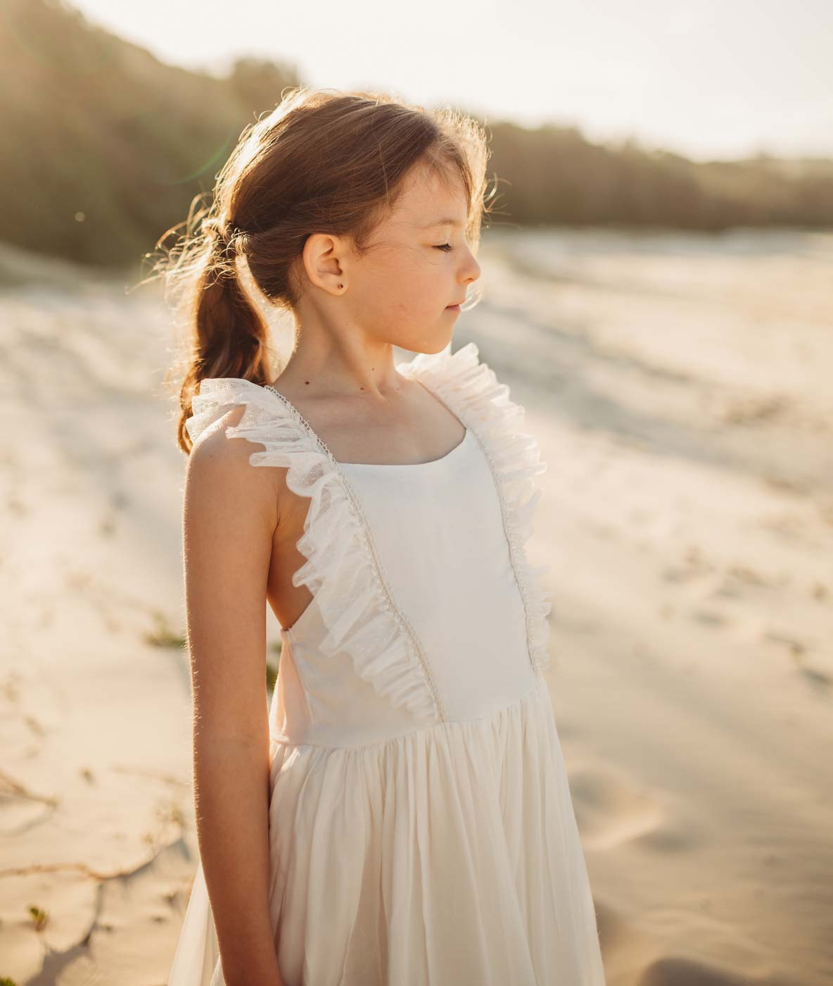 Prairie Girls Vintage Boho Flower Girl Dress